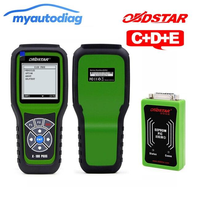OBDStar X-100 Profis C D E OBD2 Auto Schlüssel Programmierer + entfernungsmesser-korrektur werkzeug + OBDII diagnose werkzeug x100 C + D + eeprom