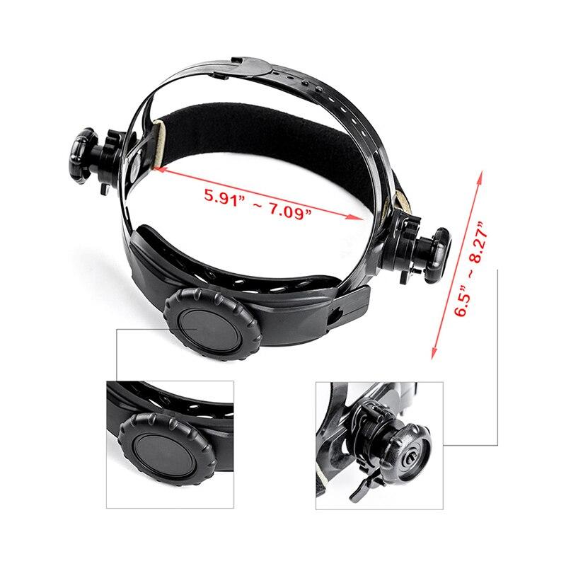 Deko mz232 solar powered capacete de soldagem escurecimento automático profissional capa ampla lente faixa de sombra ajustável 4/9 13 para mig tig - 4