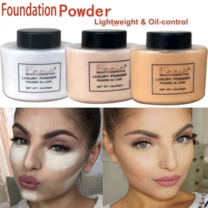Image 5 - Face Foundation Powder Oil Control Contour Full Cover Long Lasting Banana Translucent Mineral Makeup Professional Base Matte