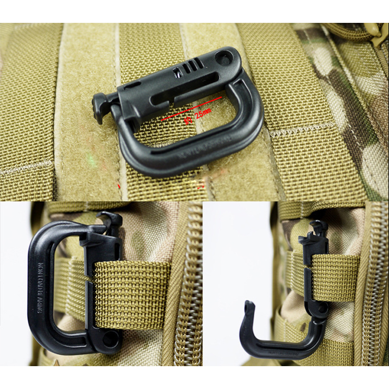 Image 3 - 5 PCS New Outdoor Climbing Tools Carabiners & Quickdraws D Locking Ring Plastic Clip Snap Type Ring Buckle Packpack Fast buckle-in Climbing Accessories from Sports & Entertainment