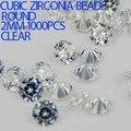 Rhinestones brillantes 1000 unids 1-3.5mm Material de Cristal Claro Color AAAAA Cortes Brillantes Piedras Zirconia Cúbico Redondo DIY joyería