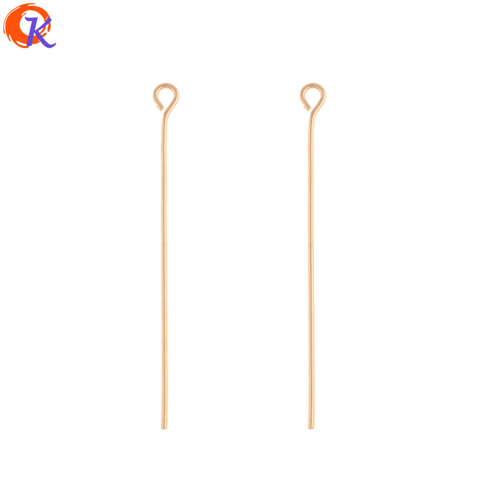 Cordial Design 300Pcs 3*40MM Jewelry Accessories/DIY Earrings Making/Pin Shape/Genuine Gold Plating/Hand Made/Earrng Findings