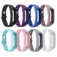 8PCS Replacement Silicone Wristband for Fitbit Alta Watch Metal Bands Bracelet with Secure Adjustable Strap Accessories