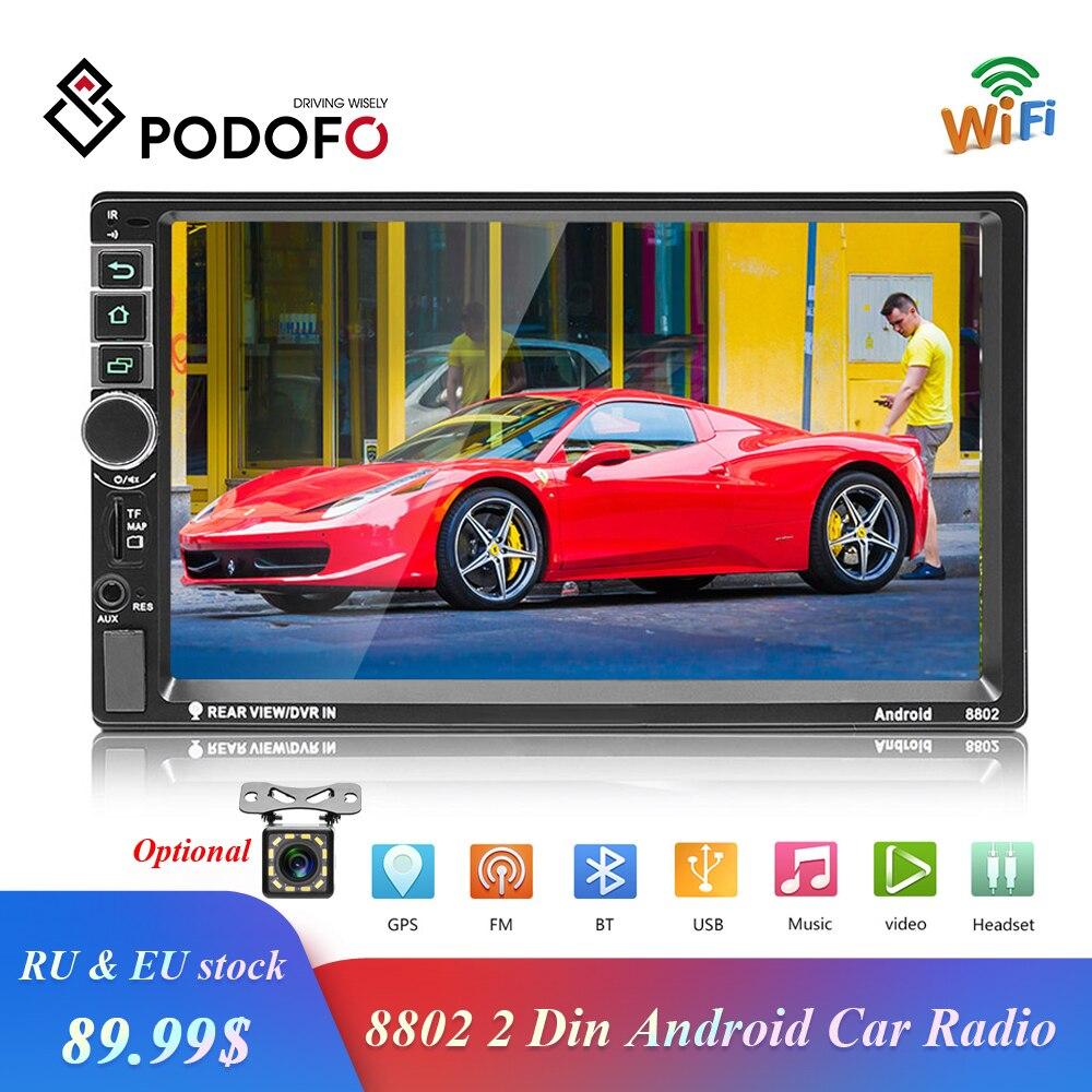 Liefern Podofo 2din Android Auto Radio Gps 7 Zoll 2 Din Radio Kassette Recorder Bluetooth Autoradio Mp5 Player Unterstützung Rückansicht Kamera