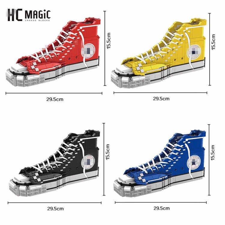 HC new arrive creative big particles assembled sports shoes model laces XZ003-006 series building blocks toys for children gifts