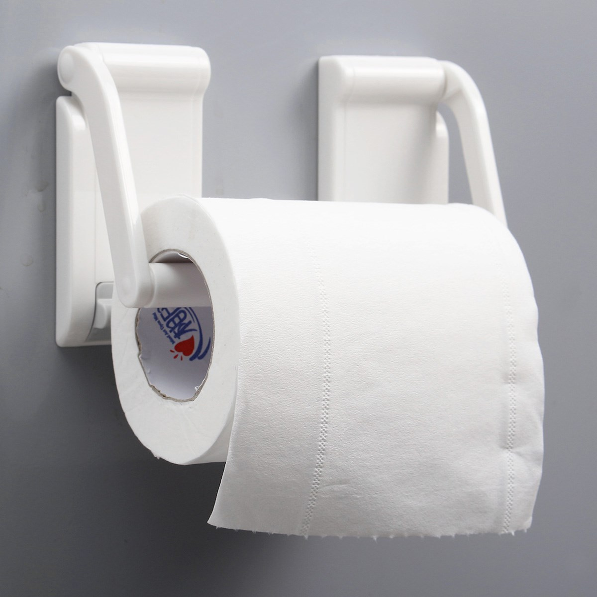 90 x 45mm kitchen bathroom plastic magnetic paper holder space saving paper towel roll rack holder hold dispenser - Commercial Bathroom Paper Towel Dispenser