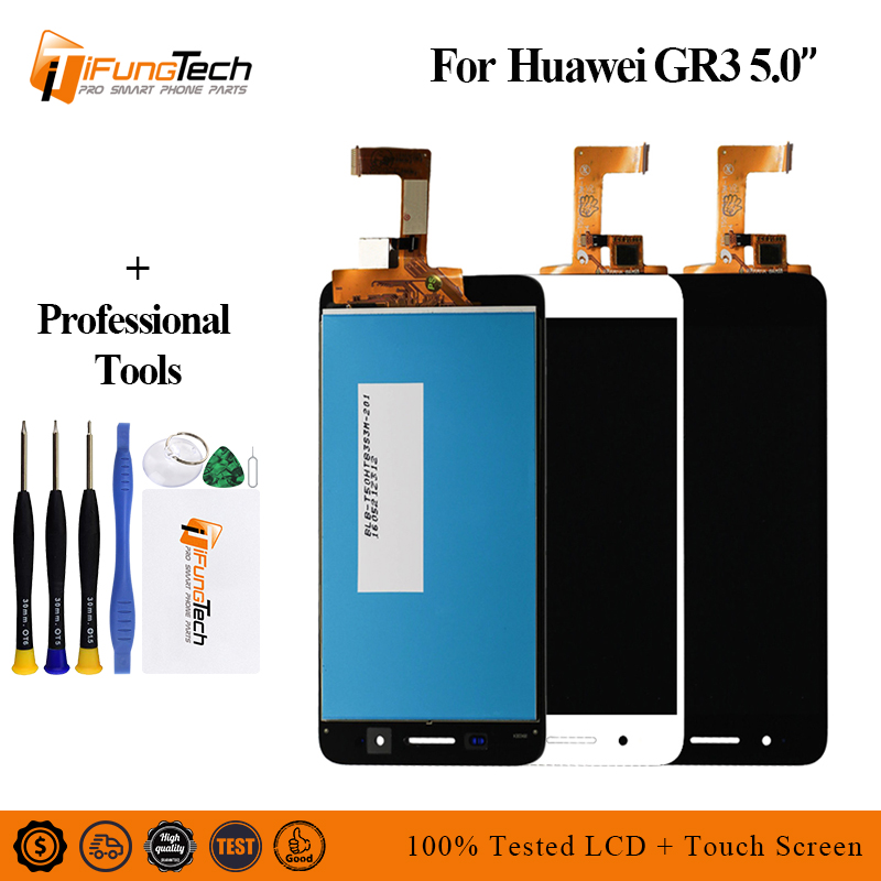 New LCD For Huawei P8 Lite Smart Display Touch Screen Digitizer With Frame GR3 TAG-L01