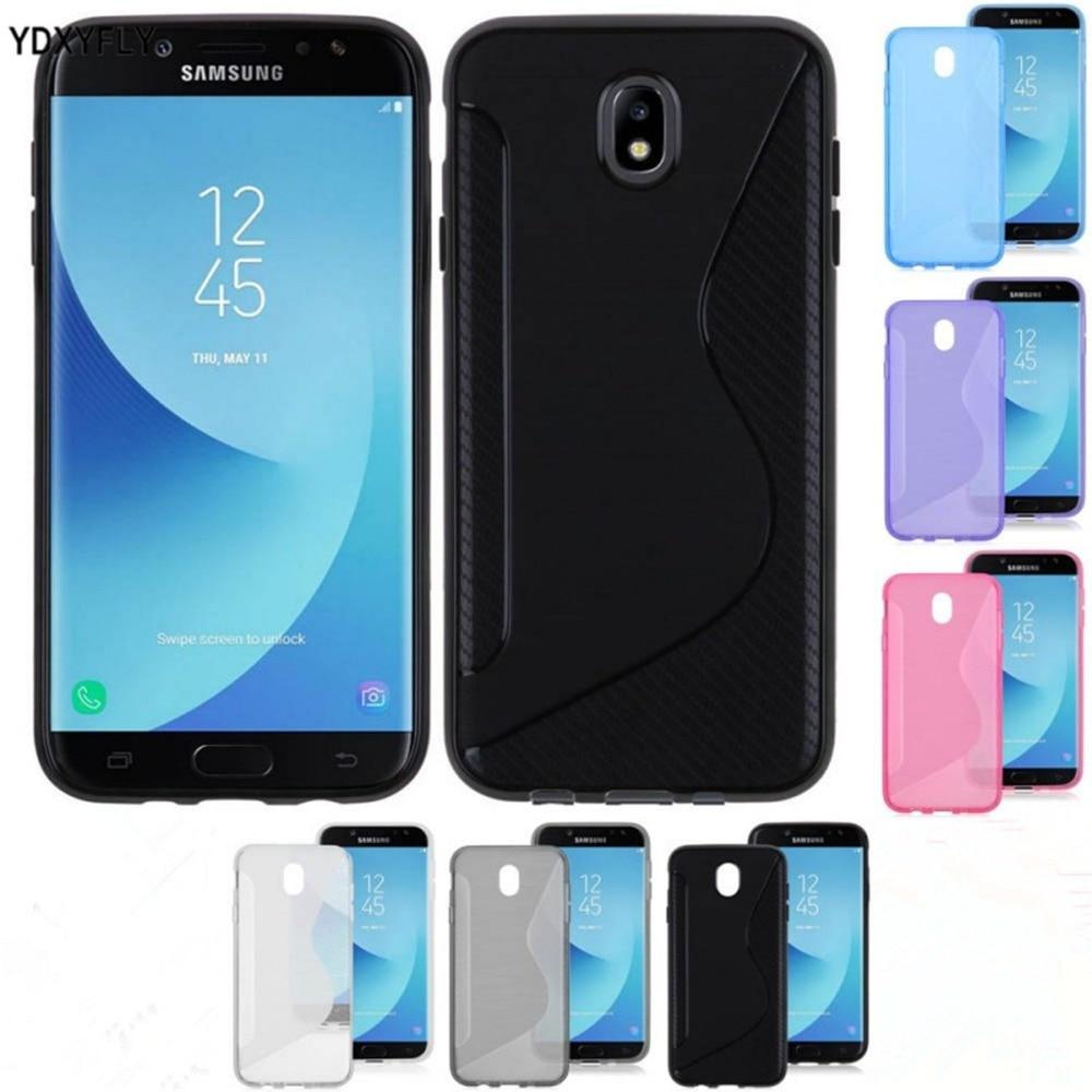 Galleria fotografica Flexible Case For Samsung Galaxy J3 2017 J330 Silicone S Line TPU Case For Galaxy J5 J7 2017 J530 J730 J7 Pro Rubber Matte Cover