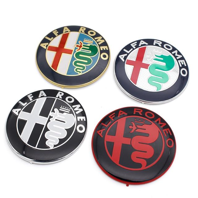 US $2 45 5% OFF|2pcs Free shipping Specials sale Black white Color 74mm  7 4cm ALFA ROMEO Car Logo emblem Badge sticker for Mito 147 156 159 166-in  Car