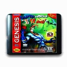 Earth Worm Jim 16 bits da Sega MD Cartão de Jogo para Consola de jogos do Mega Drive para Genesis