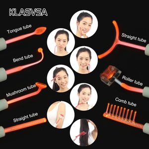 Image 3 - KLASVSA Dardonval High Frequency Therapy 7 Wands Tube Massager Facial Hair Sticker Device Chromotherapy Skin Care Neon Gas Relax