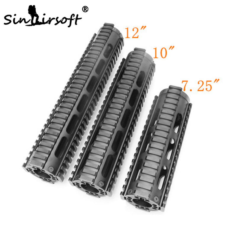 AT3 Style AR Tactical Carbine-Length 7 inch FF Free Float Quad Rail Handguard Picatinny Tube paintball airsoft 7 9 12 m16 m4 ar 15 quad rail handguard free float hunting accessorie 223 5 56 picatinny quad rail