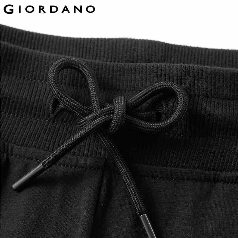 Giordano Erkekler Joggers Erkekler Pantolon İpli Elastik Bel Örgü Joggers Erkekler Pantolon Eğimli Cep Pantalon Homme Pamuk Spandex Karışımı