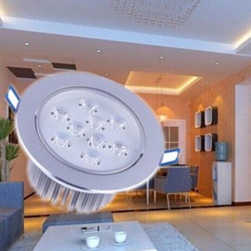 9 Watt Downlight Einbau LED Spot Licht Warm/Cool White Dekoration ...
