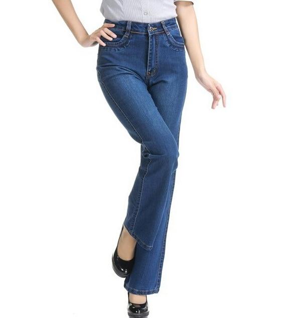 aliexpress : buy summer elastic plus size bell bottom jeans