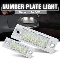 2 قطعة 12 فولت 18 المصابيح سيارة LED رقم الترخيص لوحة أضواء مصباح لشركة فولكس فاجن الناقل T5 العلبة توران جولف باسات