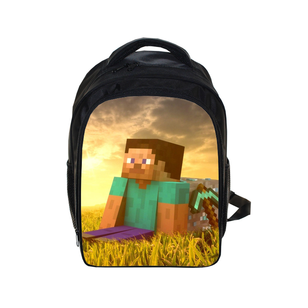 Minecraft Cartoon Game Prints Backpack Students School Bag For Girls Boys Rucksack Mochila Children Backpack Private Customize Backpacks Luggage & Bags