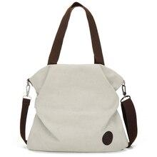 Woman Solid Shoulder Bag Shopping Tote School Messenger Large Capacity Canvas Handbags Crossbody Fashion