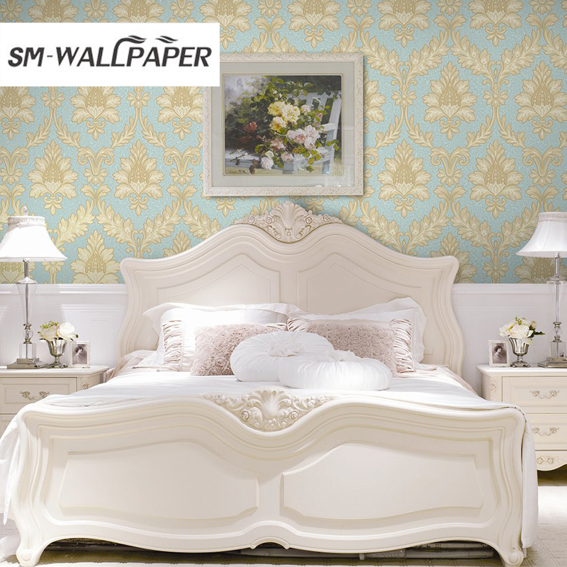 New Decorative 3d damask pvc waterproof wallpaper