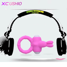 Pink Vibrating Rabbit Silicon Penis Sleeves Penis