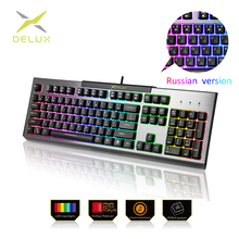 Delux KM9036 Edition Mechanical Keyboard 87 keys Blue Switch Gaming Keyboards for Tablet Desktop Russian sticker