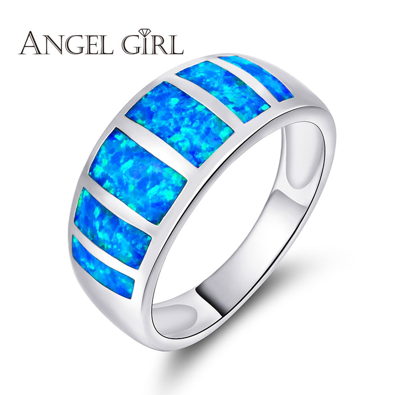 Popular Blue Opal Rings Buy Cheap Blue Opal Rings lots from China