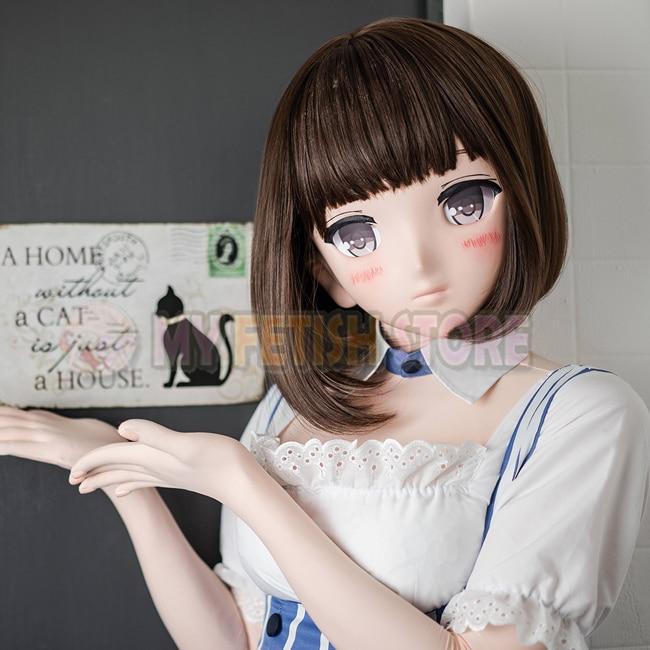 (MSM 01)Sweet Girl Resin 3/4 Full Head Customize Cosplay Japanese Role Play  Anime MSM 01&MSM 02 Kigurumi Mask Crossdresser Doll-in Costume Accessories