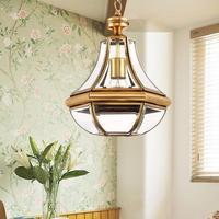 Indoor LED Novelty Pumpkin Pendant Chandelier Lamp for Kitchen Dining Room balcony Hanging copper Lamp Bedroom Cafe Light Abajur