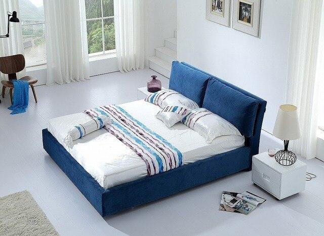 Simple moderna de tela para dormir suave cama muebles de dormitorio de matrimonio Hecho en China