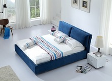 simple modern fabric sleeping soft bed King size bedroom furniture Made in China