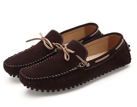 2016 de La Moda de Los Hombres Mocasines de Cuero Genuino Zapatos Casuales Resbalón En Zapatos Mocasines Planos de Los Hombres Para Hombre Mocasines de Gamuza Más Tamaño