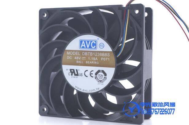 Wholesale: original AVC DBTB1238B8S 12038 DC 48V 1.19A 12cm 4-lines heat dissipation cooling fan free delivery original afb1212she 12v 1 60a 12cm 12038 3 wire cooling fan r00