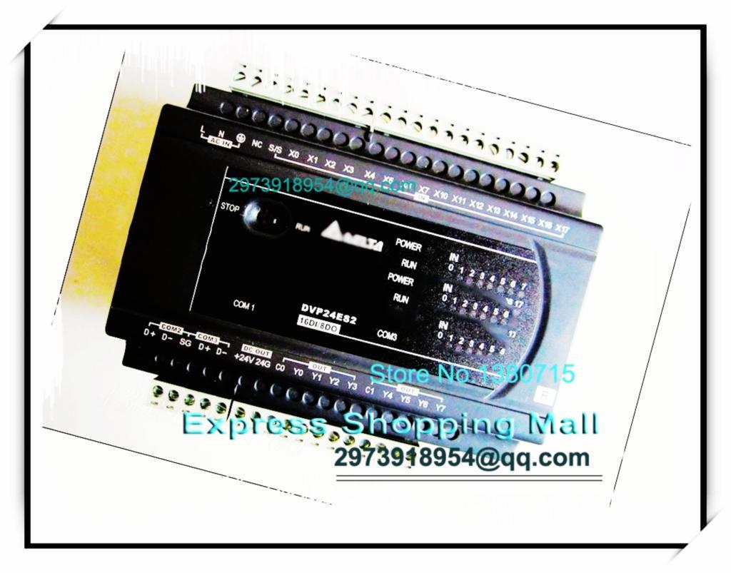 New Original DVP24ES200R Delta PLC ES2 series 100-240VAC 16DI 8DO Relay output dvp32es200t delta new original plc es2 series 100 240vac 16di 16do transistor output
