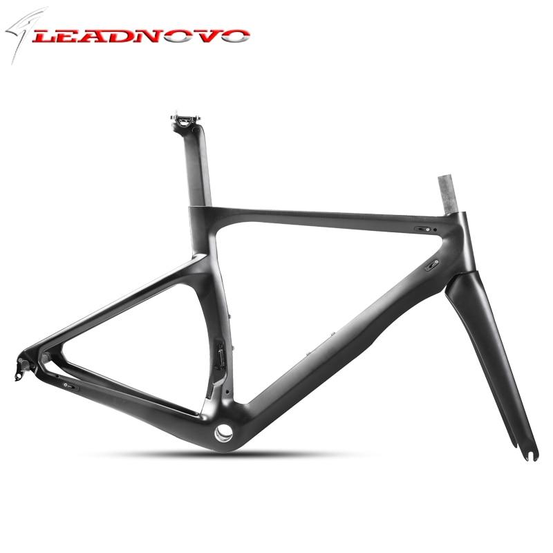 LEADNOVO 2018 MTB 700C High Quality Ultra Carbon Carbon Fiber Bicycle Frame Carbon Frame Cycling Race AERO ROAD Bike Frame