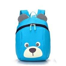 aacdd76d42fd9 1-5 yıl Anaokulu bebek erkek kız sırt çantası schoolbag bebek sevimli ayı  anti-