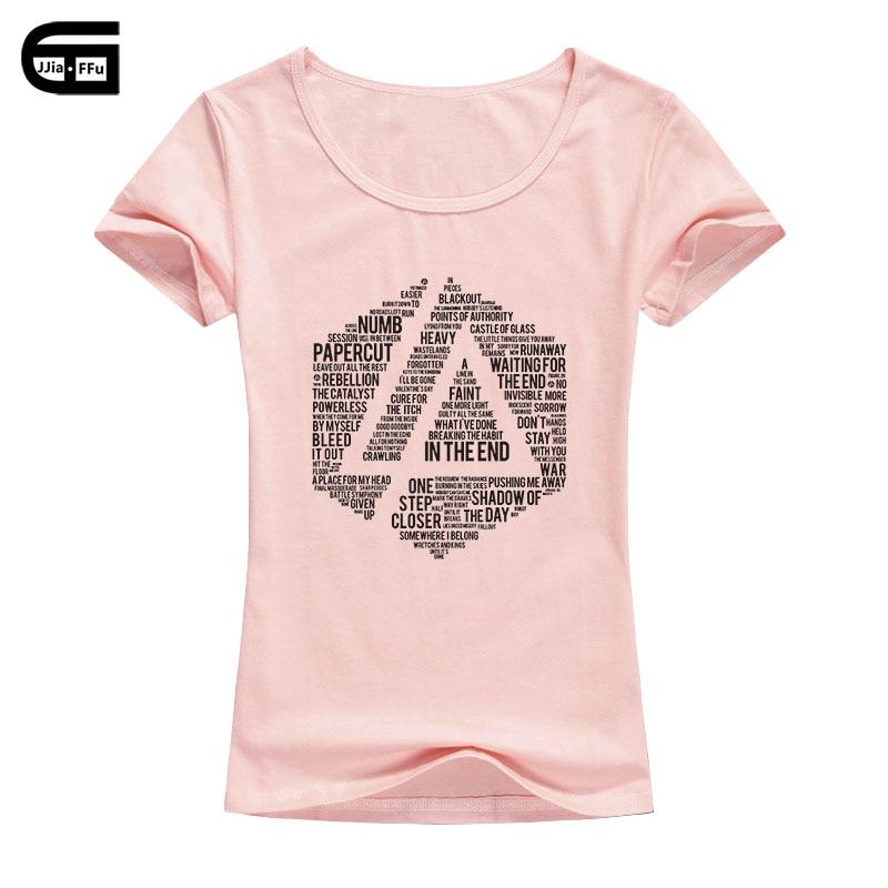 2018 Sommer Mode Frauen T Shirt Lincoln Park Gedruckt T-shirt Baumwolle Linkin Marke Kleidung Kurze Tops Tees B134 Elegante Form