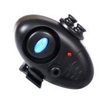 Black small MINI Electronic Wireless ABS Fish Bite Alarm Sound Running LED Sensitive Mat Drop Shipping