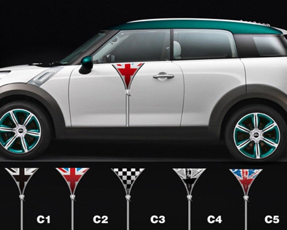 Aliauto 2 x аксессуары на молнии для автомобиля, украшение автомобиля, наклейки на дверь автомобиля и наклейки для mini cooper Countryman R50 R52 R53