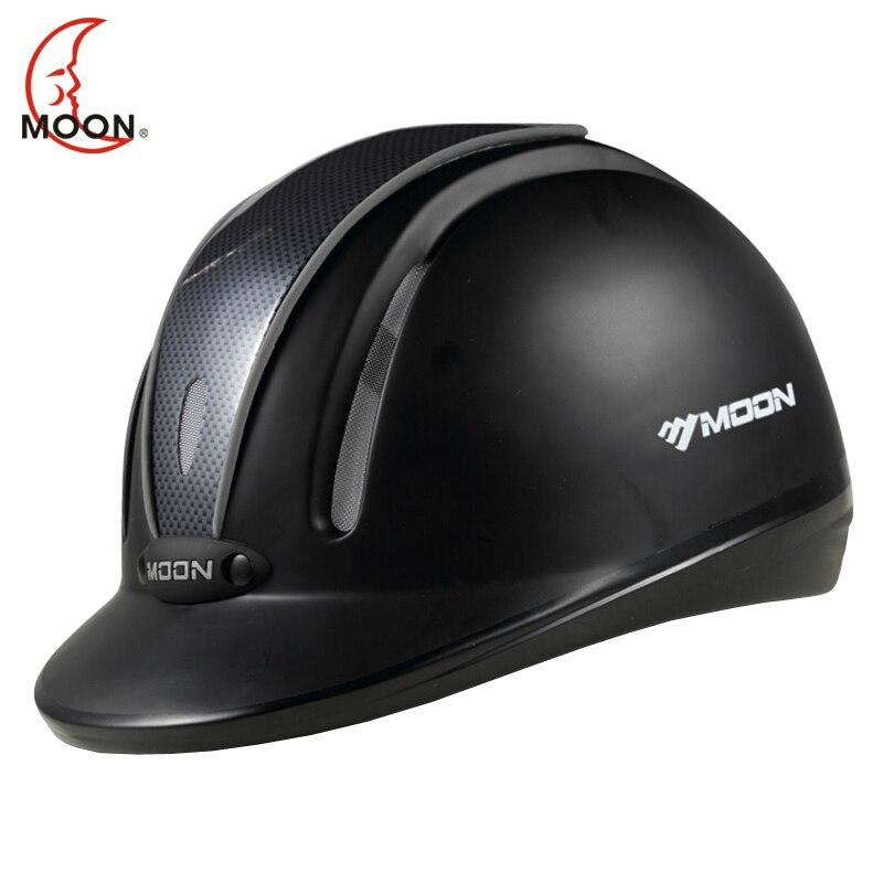 Луна Конный шлем Верховая езда шлем дышащий прочный безопасности Половина крышка Конный Всадник шлемы