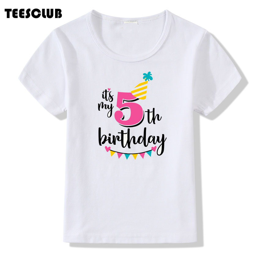 Harajuku Its My 1st Birthday Print Children T Shirt For Gift Boys Girls Funny Summer Tops Kid Short Sleeve Tshirt Party Clothes