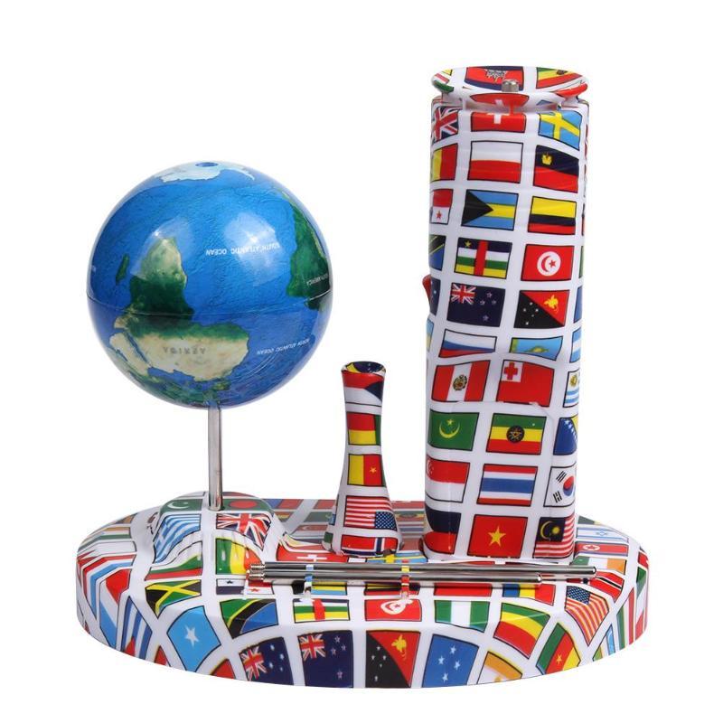 1 set Globe Terrestre Électronique Centripète Spinning Globe Terrestre Enfants Jouet Éducatif Peut Tourner Sur La Paume Table Fil