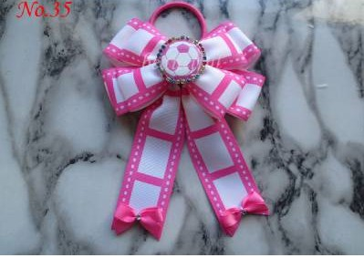 FREE Shipping 2015 customize hair accessories 20pcs BLESSING Good Girl Boutique 5x6.5 Bowknot Ponytail Hair Bow Elastic 128 No 10pcs sweet diy boutique bow headbands elastic head band children girl hair accessories headwear wholesale