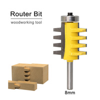 1pc 8 Shank Rail Reversible Finger Joint Glue Router Bit Cone Tenon Woodwork Cutter Power Tools