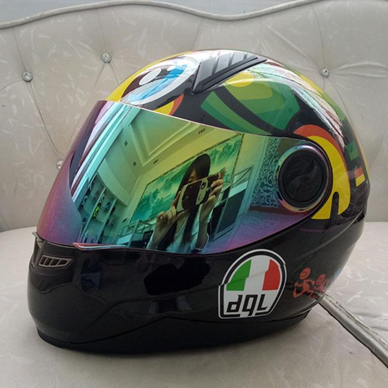 Мотоцикл шлем мужские и стрижки летнего сезона личность беговые гоночный автомобиль анти туман анфас шлем