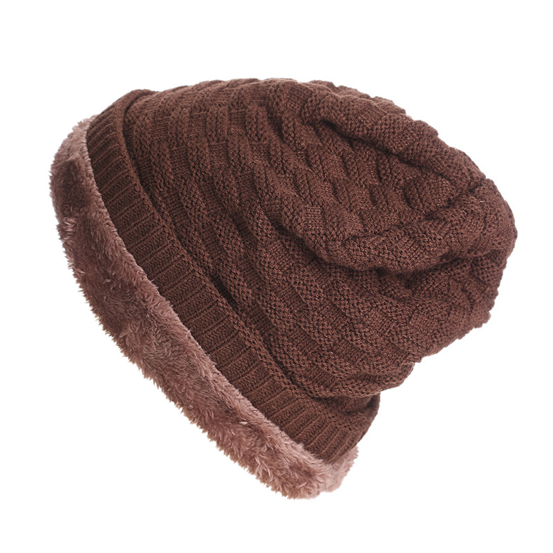 2016 Thicken Beanies Men's Winter Hat Caps Skullies Bonnet Hats For Men Women Beanie Warm Baggy Knitted Cap Headgear For Women 2016 thicken beanies men s winter hat caps skullies bonnet hats for men women beanie warm baggy knitted cap headgear for women