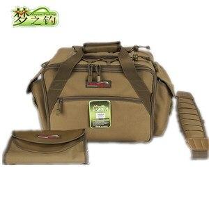 Image 3 - Dream Fishing Multifunctional Fishing Bag 47*29*21cm Large Capacity  Fishing Reel Bag 1200D Waterproof Nylon Tackle Bagpack