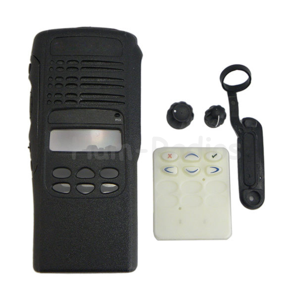 Radio Service Parts Case Kit Front Case Housing Cover For Motorola GP360 Radio With Knobs & PTT Pad & Dust Cove & Label&key Pad