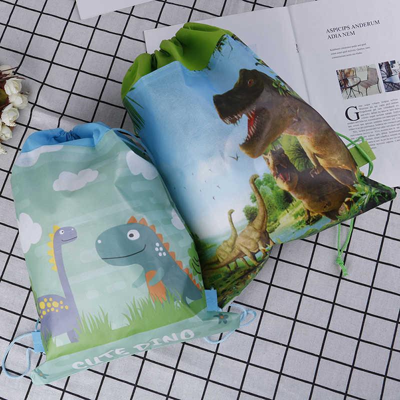 תינוק מקלחת שרוך מסיבת יום הולדת בני טובות קריקטורה חמוד דינוזאור נושא לקשט שאינו ארוג בד מתנות שקיות