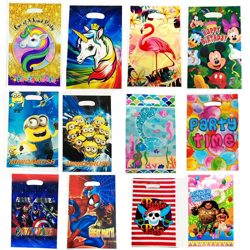 20 pcs/lot Plastic Loot Bag Party Supplies Unicorn Pirate Superman Kids Birthday Decoration Halloween Christmas Plastic Gift Bag20 pcs/lot Plastic Loot Bag Party Supplies Unicorn Pirate Superman Kids Birthday Decoration Halloween Christmas Plastic Gift Bag