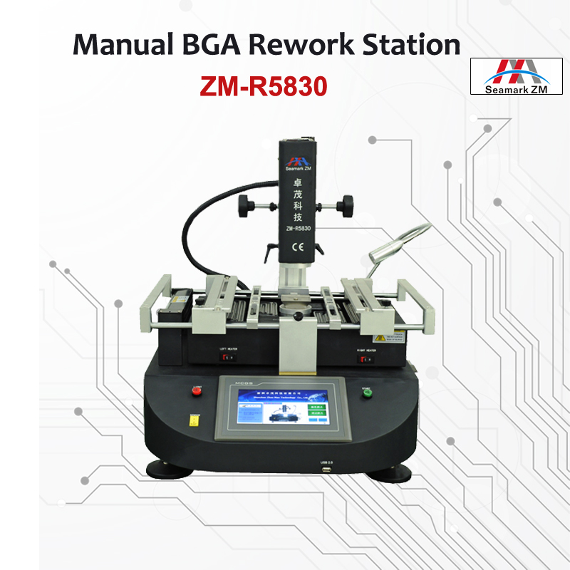 ZhuoMao ZM-R5830 Three Temperature Zones Hot air BGA Rework Station reballing machine with touch screen control panel bga rework machine ly 5830c hot air 3 zones for laptop motherboard chip repair 4500w zm r5830